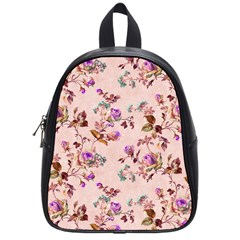 Antique Floral Pattern School Bag (small) by LovelyDesigns4U