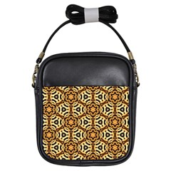Faux Animal Print Pattern Girls Sling Bags by creativemom