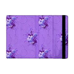 Purple Roses Pattern Ipad Mini 2 Flip Cases by LovelyDesigns4U