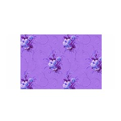 Purple Roses Pattern Satin Wrap by LovelyDesigns4U