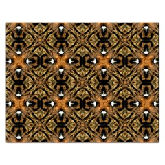 Faux Animal Print Pattern Rectangular Jigsaw Puzzl by creativemom