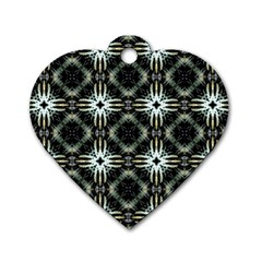 Faux Animal Print Pattern Dog Tag Heart (one Side) by creativemom