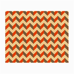Modern Retro Chevron Patchwork Pattern  Small Glasses Cloth (2 Side) by creativemom