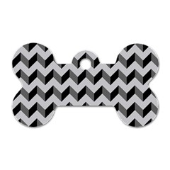 Modern Retro Chevron Patchwork Pattern  Dog Tag Bone (one Side) by creativemom