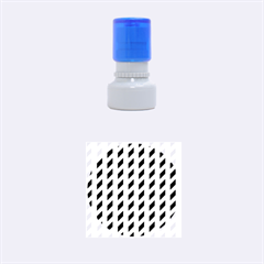 Modern Retro Chevron Patchwork Pattern  Rubber Round Stamps (Small) by creativemom