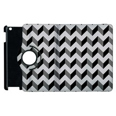 Modern Retro Chevron Patchwork Pattern  Apple Ipad 3/4 Flip 360 Case by creativemom