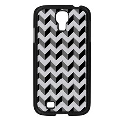 Modern Retro Chevron Patchwork Pattern  Samsung Galaxy S4 I9500/ I9505 Case (black) by creativemom
