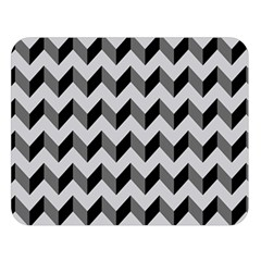 Modern Retro Chevron Patchwork Pattern  Double Sided Flano Blanket (large)  by creativemom