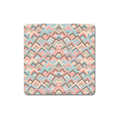 Trendy Chic Modern Chevron Pattern Square Magnet by creativemom