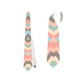 Trendy Chic Modern Chevron Pattern Neckties (one Side)  by creativemom