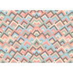 Trendy Chic Modern Chevron Pattern You Did It 3D Greeting Card (7x5) Front