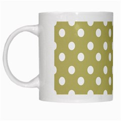Lime Green Polka Dots White Mugs by creativemom