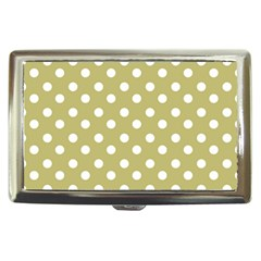 Lime Green Polka Dots Cigarette Money Cases by creativemom
