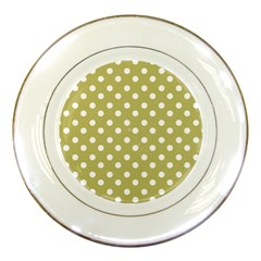 Lime Green Polka Dots Porcelain Plates by creativemom