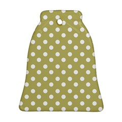 Lime Green Polka Dots Bell Ornament (2 Sides) by creativemom