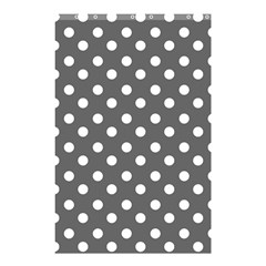 Gray Polka Dots Shower Curtain 48  X 72  (small)  by creativemom