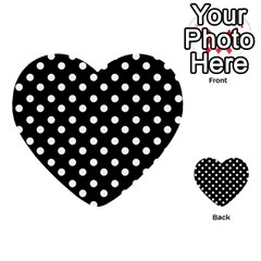 Black And White Polka Dots Multi Purpose Cards (heart)