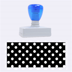 Black And White Polka Dots Rubber Stamps (Large) by creativemom