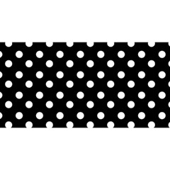 Black And White Polka Dots You Are Invited 3d Greeting Card (8x4)  by creativemom