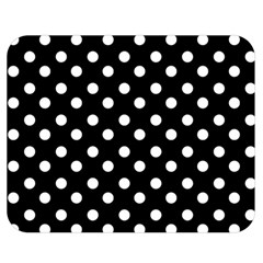Black And White Polka Dots Double Sided Flano Blanket (medium)  by creativemom