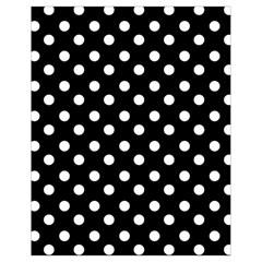 Black And White Polka Dots Drawstring Bag (small) by creativemom