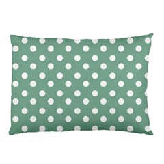 Mint Green Polka Dots Pillow Cases