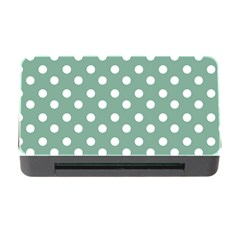 Mint Green Polka Dots Memory Card Reader With Cf by creativemom