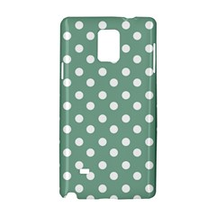 Mint Green Polka Dots Samsung Galaxy Note 4 Hardshell Case by creativemom