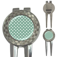 Mint Green Polka Dots 3-in-1 Golf Divots