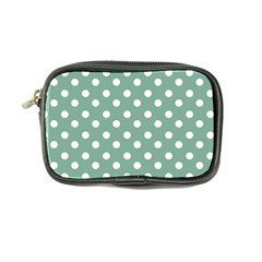 Mint Green Polka Dots Coin Purse by creativemom