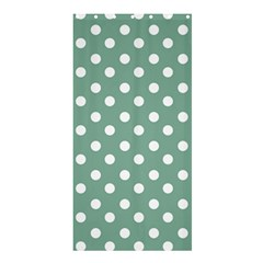 Mint Green Polka Dots Shower Curtain 36  X 72  (stall)  by creativemom