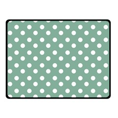 Mint Green Polka Dots Double Sided Fleece Blanket (small)  by creativemom