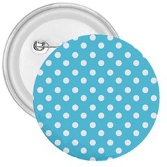 Sky Blue Polka Dots 3  Buttons by creativemom