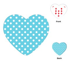 Sky Blue Polka Dots Playing Cards (Heart)  by creativemom