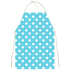 Sky Blue Polka Dots Full Print Aprons by creativemom