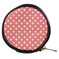 Coral And White Polka Dots Mini Makeup Bags by creativemom
