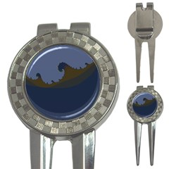 Ocean Waves 3-in-1 Golf Divots by theunrulyartist
