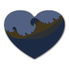 Ocean Waves Heart Mousepads by theunrulyartist