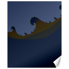 Ocean Waves Canvas 11  X 14   by theunrulyartist