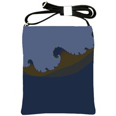 Ocean Waves Shoulder Sling Bags by digitaldivadesigns