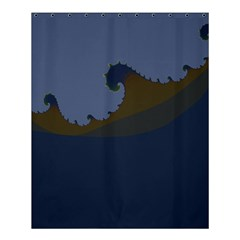 Ocean Waves Shower Curtain 60  X 72  (medium)  by theunrulyartist