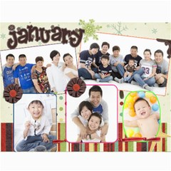 My Calander2016嫲嫲 By Yukiay   Wall Calendar 11  X 8 5  (12 Months)   4t8xu4wk8anq   Www Artscow Com Month