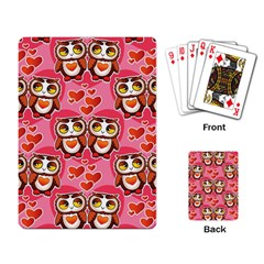 Cute Owls In Love Playing Card by LovelyDesigns4U