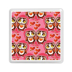 Cute Owls in Love Memory Card Reader (Square)  by LovelyDesigns4U