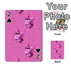 Pink Floral Pattern Playing Cards 54 Designs  by LovelyDesigns4U