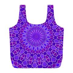 Purple Mandala Full Print Recycle Bags (l)  by LovelyDesigns4U