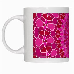 Pink And Red Mandala White Mugs by LovelyDesigns4U