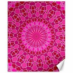 Pink And Red Mandala Canvas 16  X 20   by LovelyDesigns4U