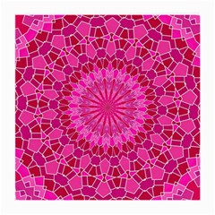Pink and Red Mandala Medium Glasses Cloth (2-Side) by LovelyDesigns4U