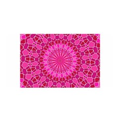 Pink And Red Mandala Satin Wrap by LovelyDesigns4U